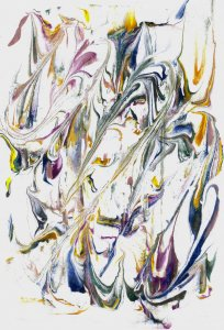 Marbled Paper Stenciling