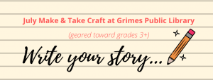 Write Your Story - Make and Take Craft