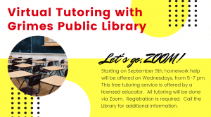 Virtual Tutoring with the Grimes Public Library