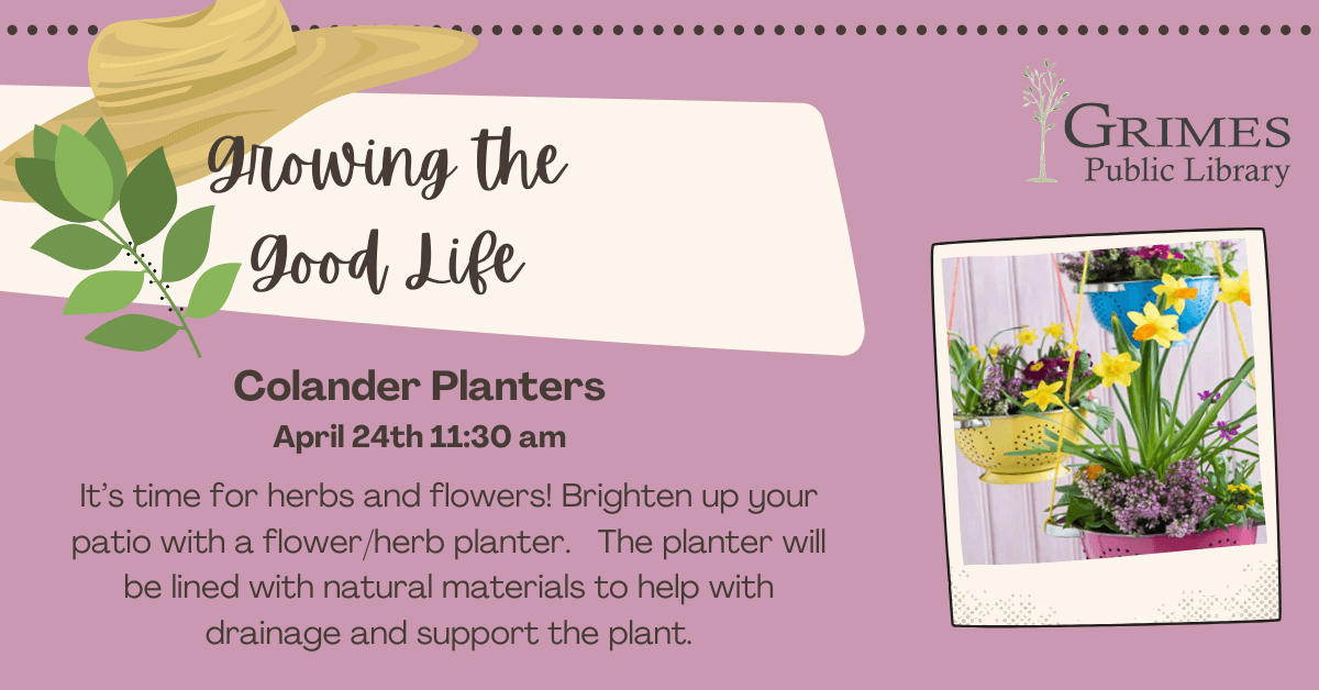 Growing the Good Life: Colander Plants